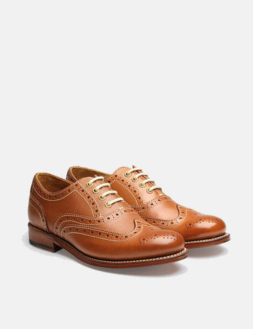 Womens Grenson Rose Brogue Shoes - Tan