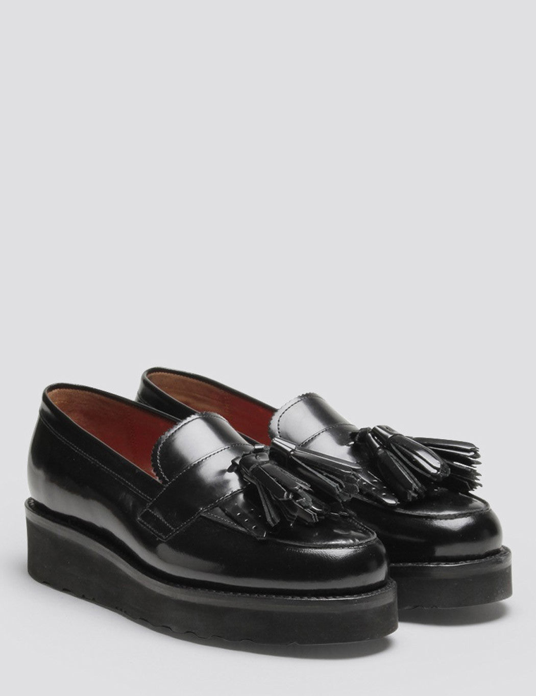 Womens Grenson Clara Tassel Loafer - Black