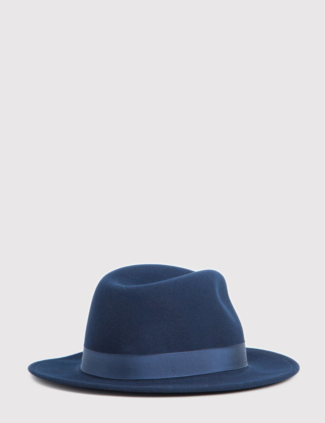 Bailey Curtis Widebrim Fedora Hat - Navy Blue