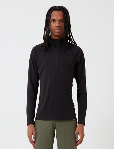Patagonia Capilene Midweight Zip-Neck Long-Sleeved Shirt - Black
