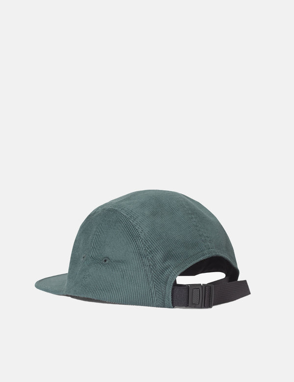 Parlez Ladsun Cord 5 Panel Cap - Dark Teal