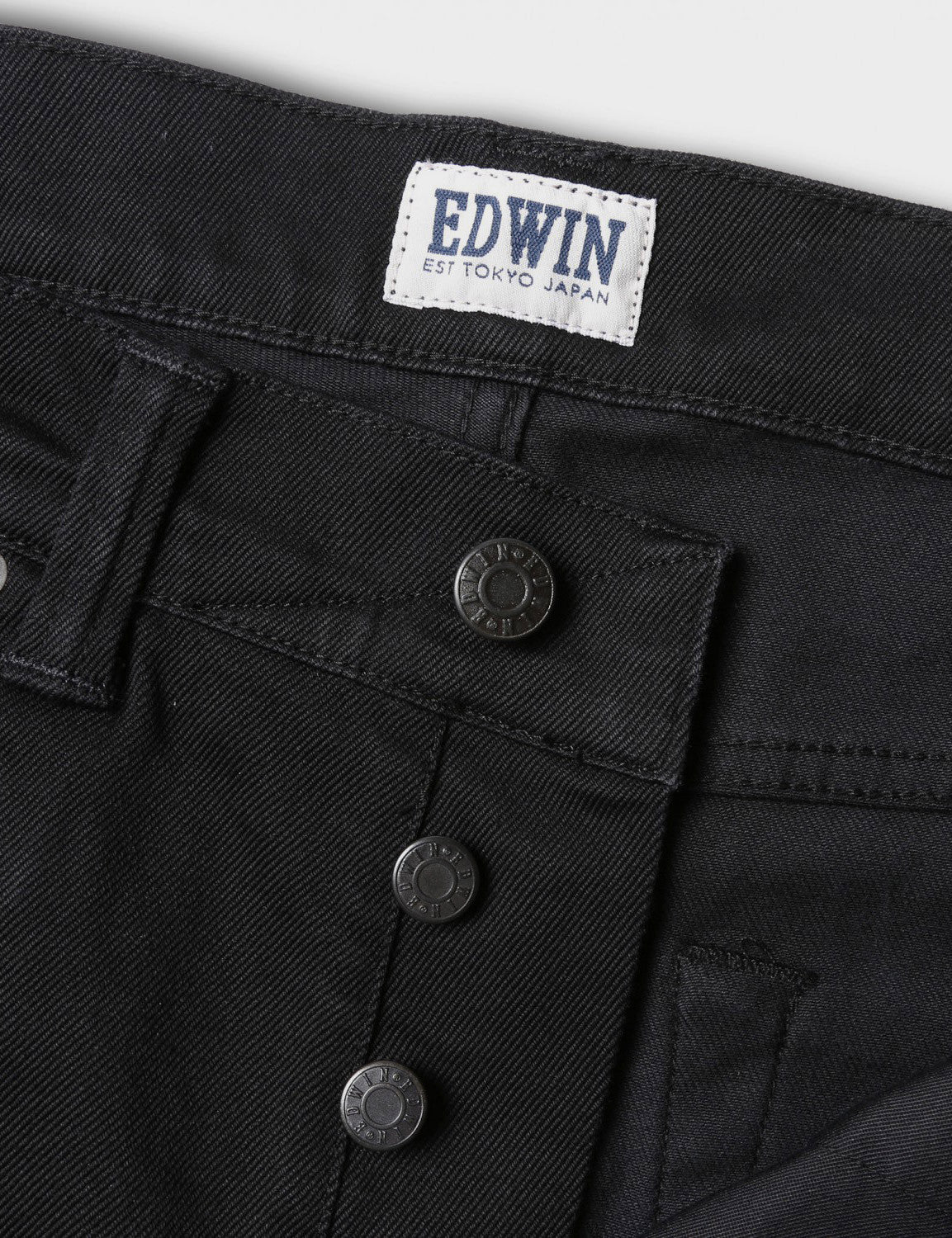 Edwin ED-80 Slim Tapered Jeans 11oz - Black Rinsed