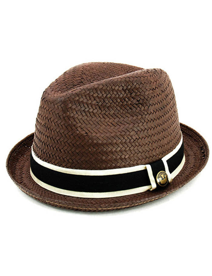 Goorin Hammond Straw Trilby Hat - Brown