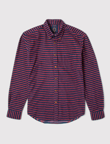 Human Scales Charles Shirt - Navy/Red