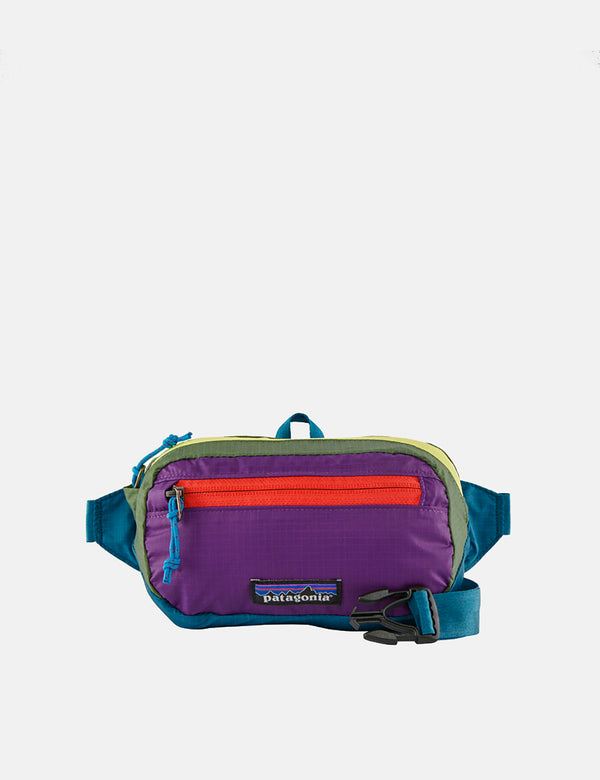 Patagonia Ultralight Black Hole Mini Hip Pack (Patchwork) - Steller Blue