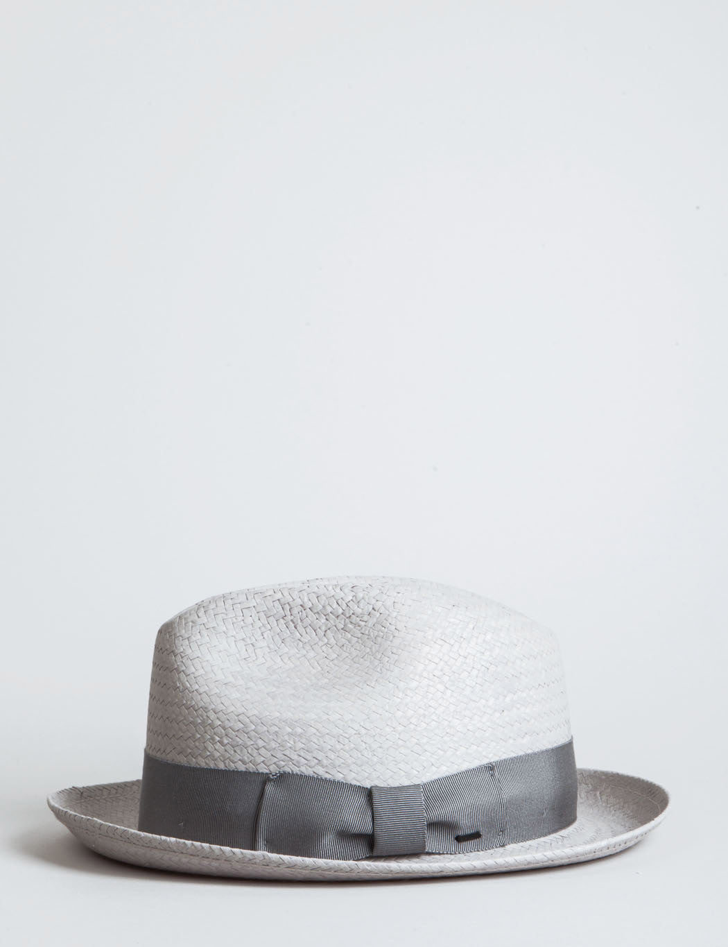 Bailey Lando Straw Trilby Hat - Overcast Grey
