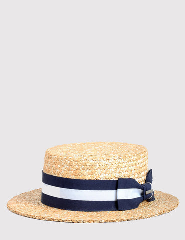Stetson Amsterdam Wheat Boater Hat - Natural