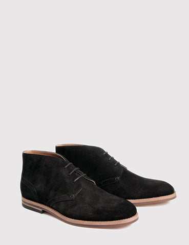 Hudson Houghton 3 Suede Boots - Black