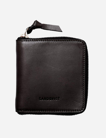 Sandqvist Aina Leather Zip Wallet - Black
