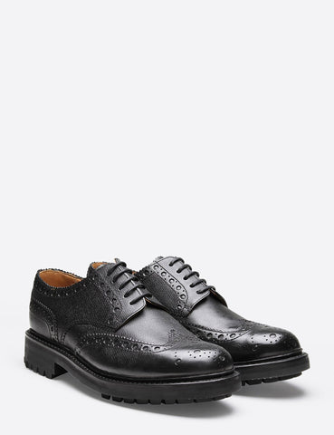 Grenson Archie Commando Sole Brogue Shoes - Black