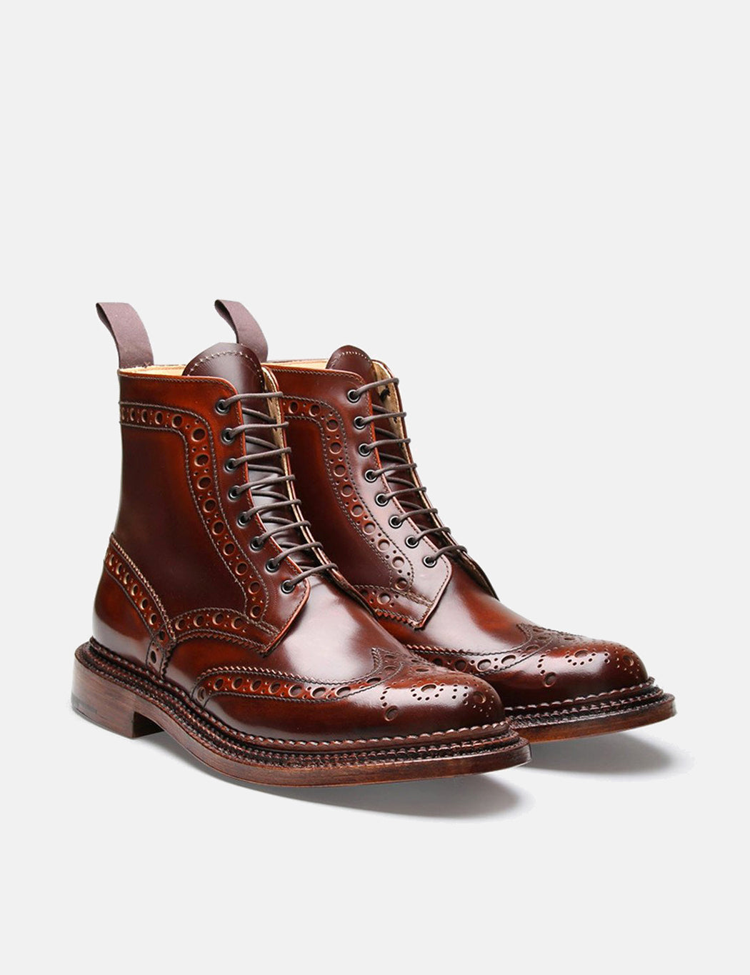 Grenson Fred Triple Welt Boot - Mahogany - Mahogany / UK 8 : US 9 : EU 42