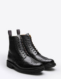 Grenson Fred Commando Sole Boot - Black