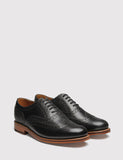 Grenson Angus Calf Brogue Shoes - Black
