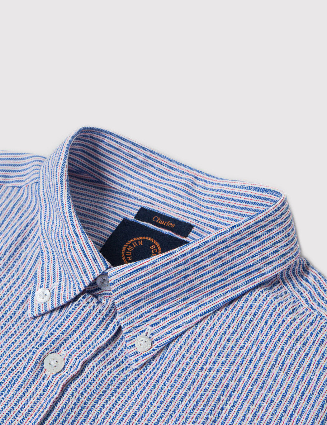 Human Scales Charles Striped Shirt - Blue