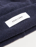 Soulland Villy Wool Beanie Hat - Navy Blue