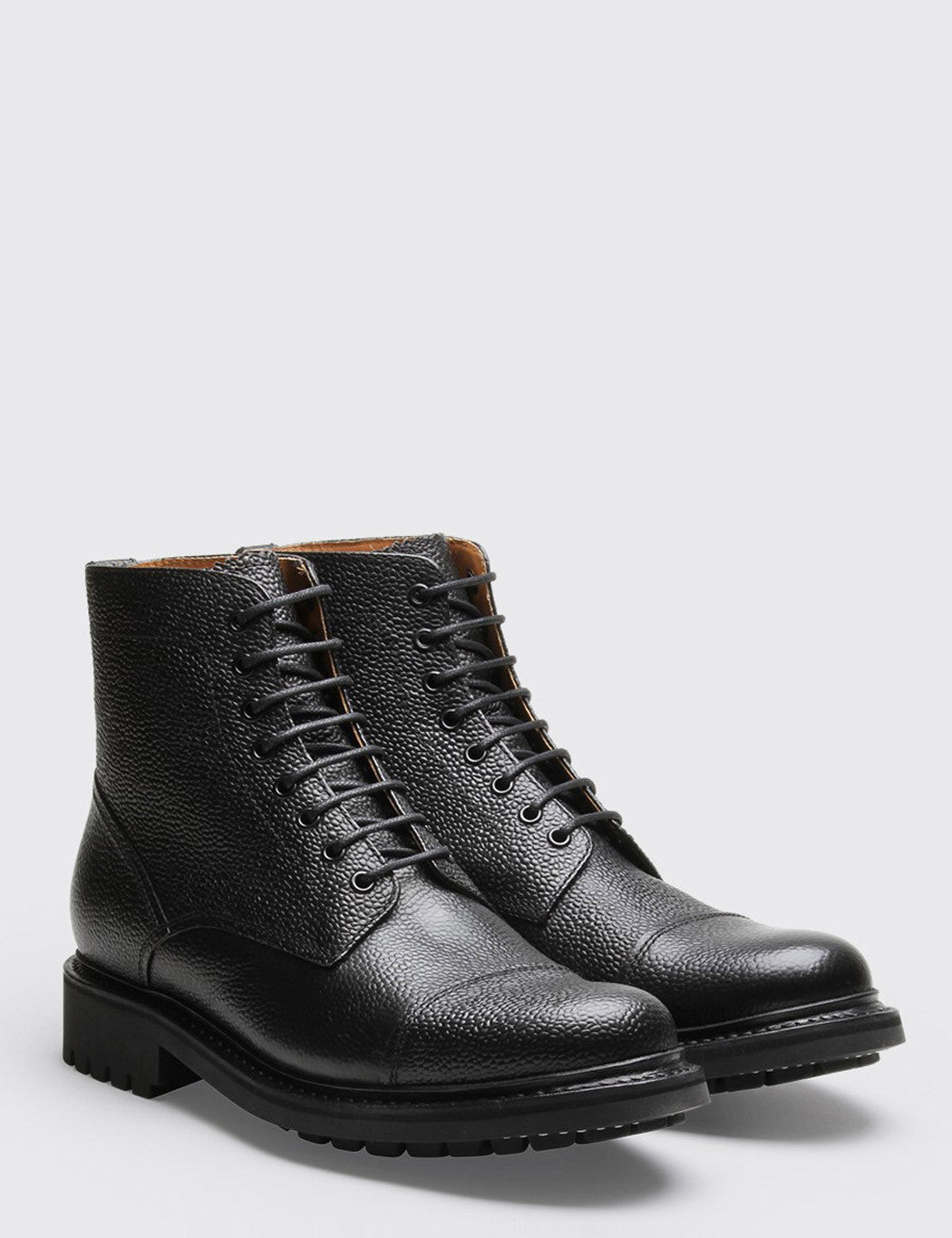 Grenson Joseph Boot (Grain) - Black | URBANEXCESS.