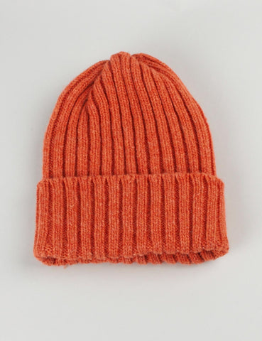 Highland 2000 Ribbed Beanie Hat - Orange