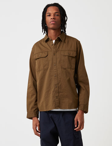 Patagonia Long Sleeve Four Canyons Twill Shirt - Cargo Green