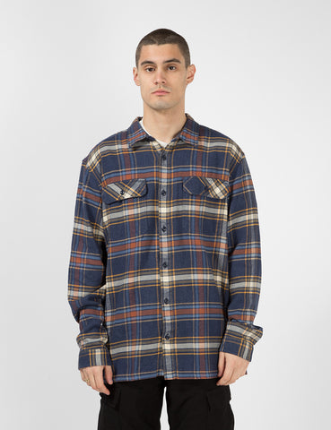 Patagonia Fjord Flannel Defender Check Shirt - New Navy Blue