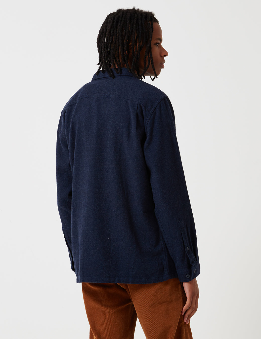 Patagonia M's Fjord Flannel Shirt - Navy Blue