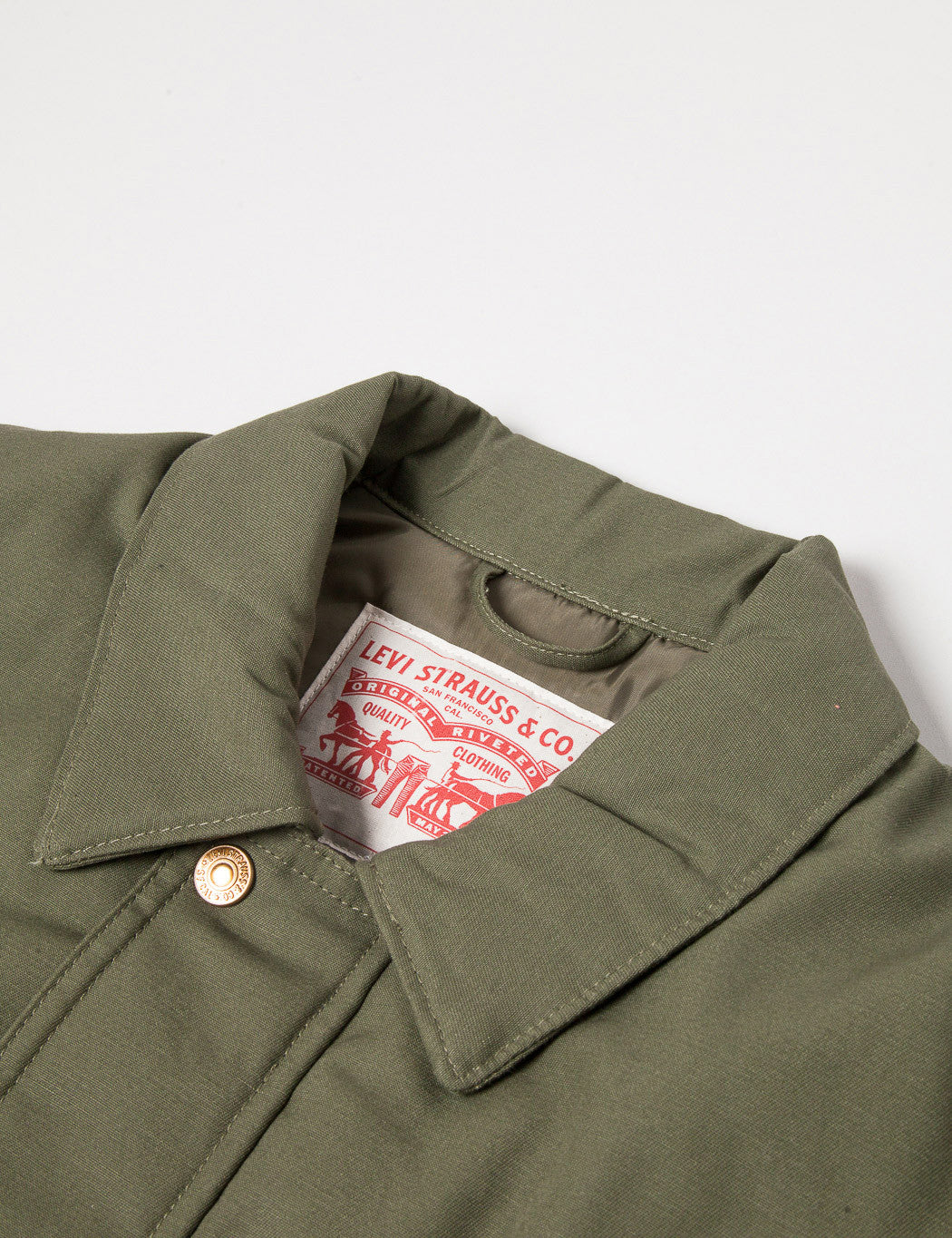 Levis Insulated Utility Jacket - Burnt Olive