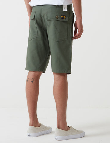 Stan Ray Fatigue Shorts (Cotton Sateen) - Olive Green
