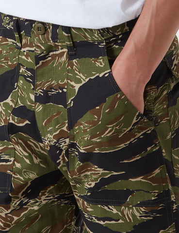 Stan Ray Fatigue Shorts (Ripstop) - Green Tiger Camo