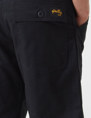 Stan Ray Fatigue Shorts (Cotton Twill) - Black