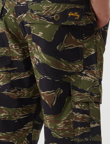 Stan Ray 6 Pocket Cargo Shorts (Loose) - Tiger Green