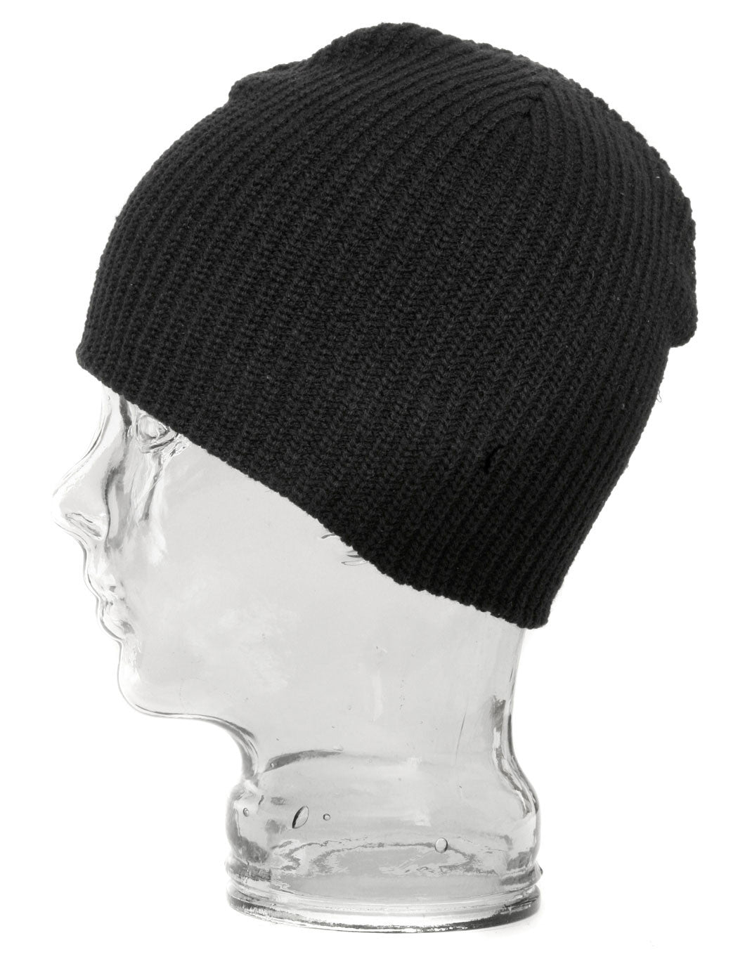 UE Shorty Skull Ribbed Beanie Hat - Black