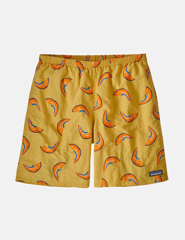 "Patagonia Baggies Nachläufer Shorts (7"" ) (Melonen) - Surfbrett Yellow"