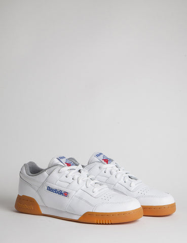 Reebok Workout Plus R12 Gum - White/Reebok Royal/Tin Grey