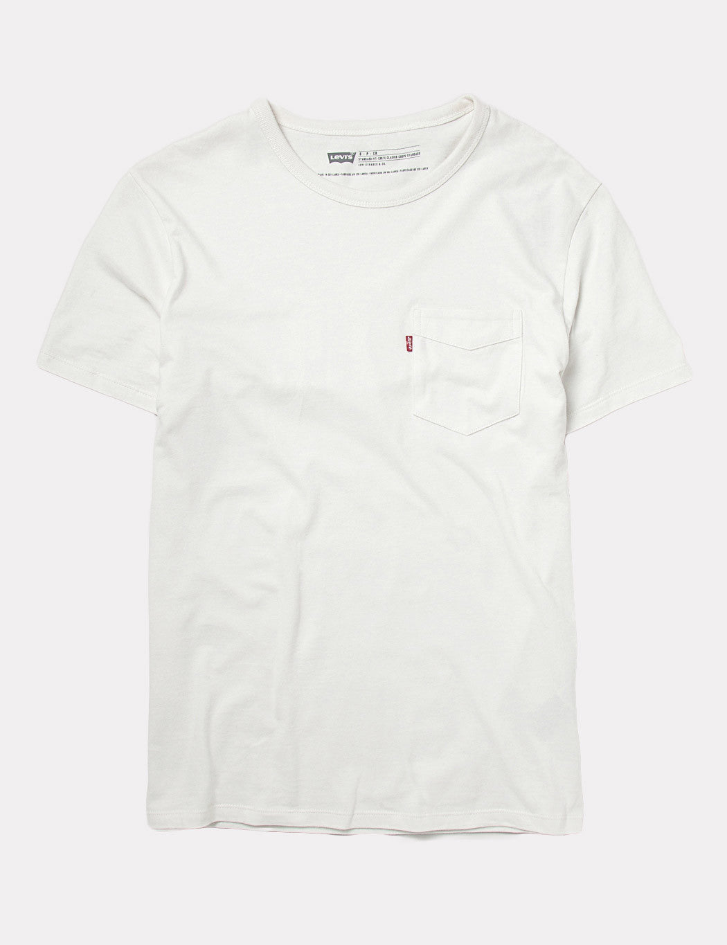 Levis Sunset Pocket T-Shirt - White Smoke