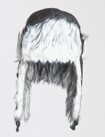 Classic Fur Trapper Hat - Black