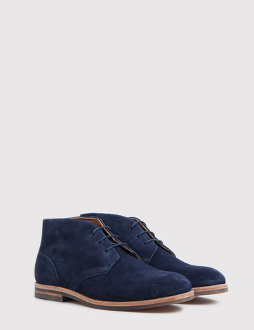Hudson Houghton 3 Suede Boots - Navy