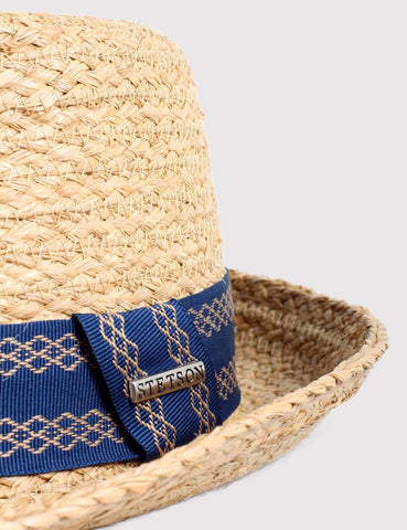Stetson Flint Raffia Straw Hat - Natural