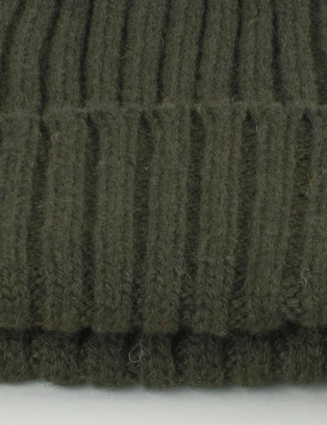 Highland 2000 Ribbed Beanie Hat - Olive Green