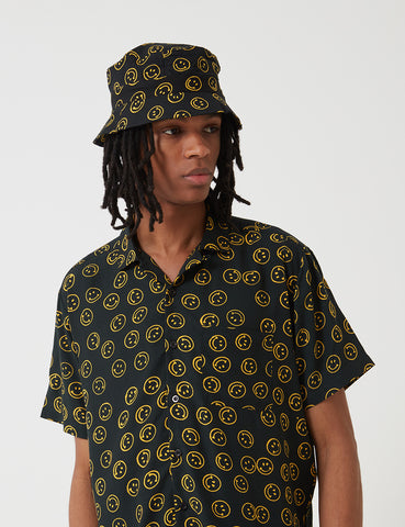 Stan Ray Fillmore Bucket Hat - Smiley Batik Black