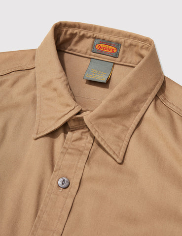 Dickies Rinsed Long Sleeve Shirt - Suntan