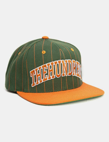 The Hundreds Pins Snapback Cap - Green/Orange