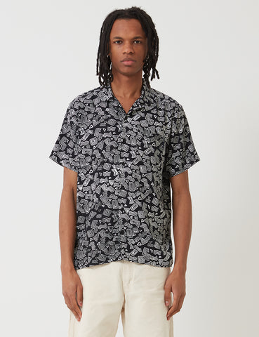 Stan Ray Tom Tom Batik Shirt - Black
