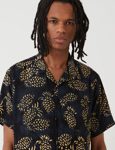Stan Ray Kelapa Batik Pineapple Shirt - Black/Yellow