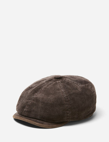 Stetson Hatteras Corduroy Newsboy Cap (Cotton) - Brown