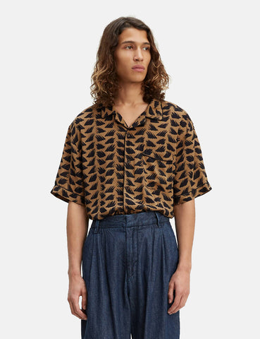 Levis Made & Crafted Pajama Shirt - Brush Stroke Multi (Brown)