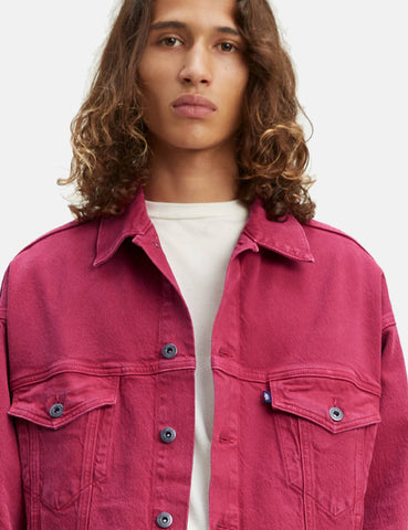 Levis Made & Crafted Oversized Type III Trucker Jacket - Peacock Pink