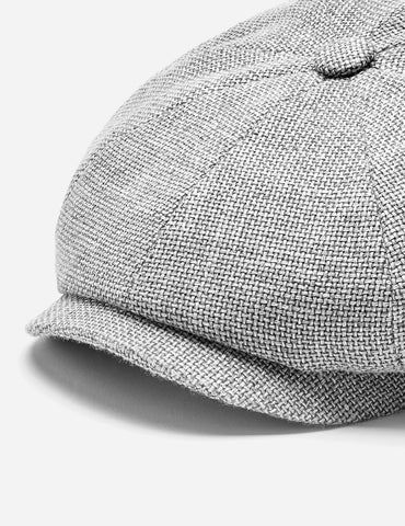 Stetson Hatteras Ellington Newsboy Cap (Silk/Wool) - Mottled Grey