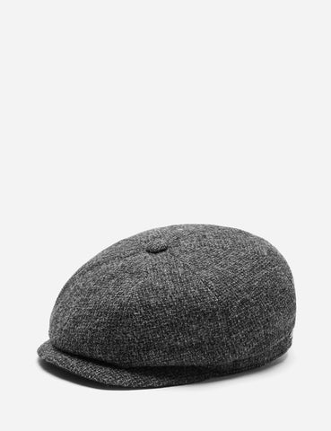 Stetson Hatteras Cross Hatch Newsboy Cap (Wool) - Grey