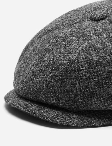 ... Stetson Hatteras Cross Hatch Newsboy Cap (Wool) - Grey 32d7877a17f