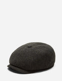 Stetson Hatteras Cross Hatch Newsboy Cap (Wool) - Brown