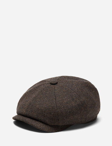 0d5fb2aa773 Stetson Hatteras Donegal Newsboy Cap (Wool Mix) - Brown ...